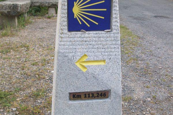 Camino de Santiago mojones Sarria